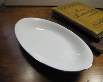 Vintage Noritake Relish Dish - Platinum Trim