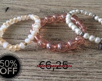 Beaded bracelet - Stackable bracelets, Mix and Match Bracelets