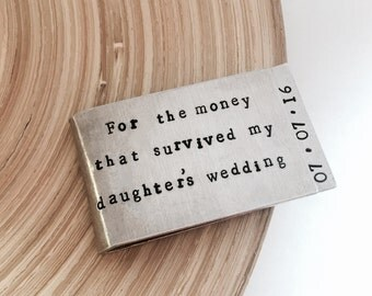 father of the bride gift - money clip - money clip wallet -father gift - father daughter gift- wedding dad gift - wedding gift parents