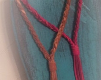 Deer skin, super soft, handmade necklace