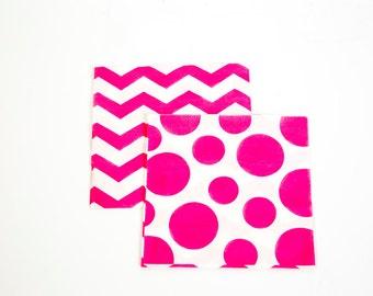 Pink Polka Dot Napkins