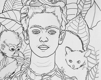 U Paint Print Frida