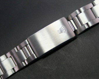 Original Vintage ROLEX 19mm Stainless Steel Watch Band Ref. 78350 End Link 557 Band Size: 158mm