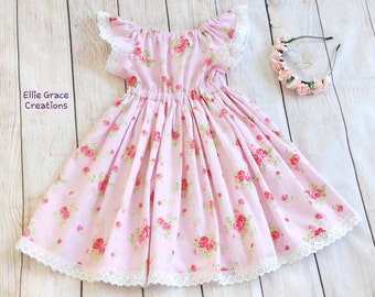 Girls Dress, Toddler Dress, Party Dress,  Holiday Dress, Twirl Dress, Age 5 years