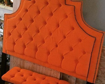 Queen Tufted Headboard with double nail trim