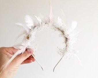 Headband feathers