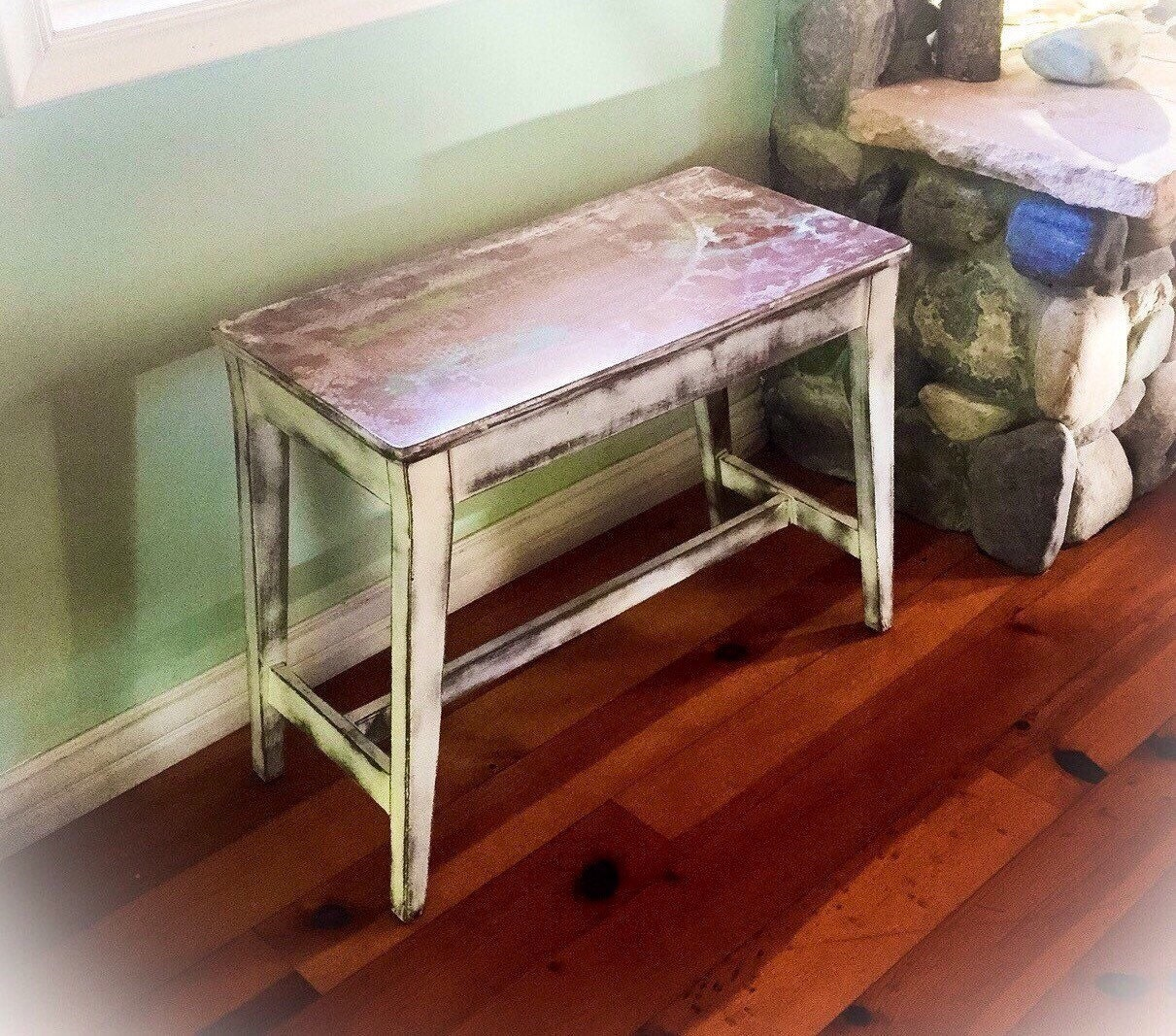 Shabby Chic Bench ~ Sold french country piano bench shabby chic white
