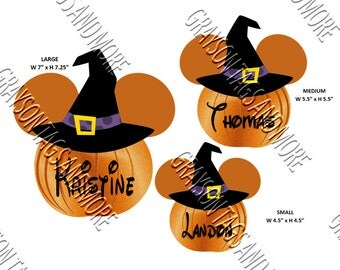 Witch Hat Pumpkin Head Disney Cruise Door Magnets (3 Sizes to Choose From)