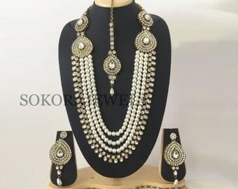 Mahima Necklace set – Clear Crystal