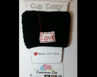 Crochet coffee cup