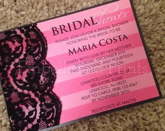 Victoria Secret Themed Bridal Shower Invitation