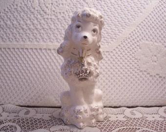 White Poodle Figurine, Japan