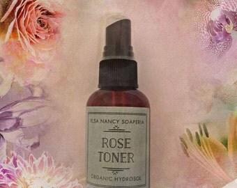 ROSE TONER, Organic Rose Hydrosol, Facial Toner