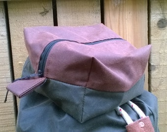 Waxed Canvas Wash Bag / Ditty Bag
