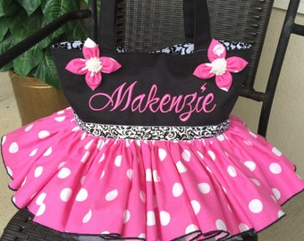 Tutu Tote Bag Made to Order includes personalization