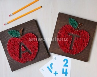 Custom Apple String Art - Teacher Gift- Apple - 7x7
