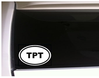 TPT Oval Vinyl Decal 6""
