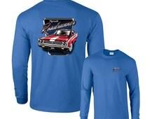 1969 Red Plymouth Roadrunner Dodge Chrysler Long Sleeve T-Shirt