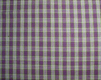 Purple Plaid Homespun or Flannel Fabric by the Fat Quarter, Half Yard or Yard Perfect for Quilting Sewing Crafting Rag Quilts