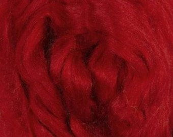 Tussah Silk Tops, Fire red, 30 grams (1.06 oz)