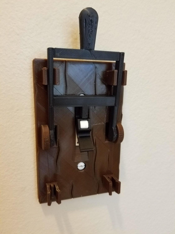 Frankenstein Light Switch Plate Halloween Medieval Mad