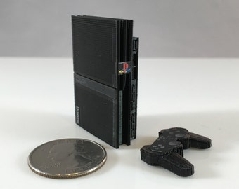 sony playstation 2 slim. mini sony playstation 2 slim - 3d printed!