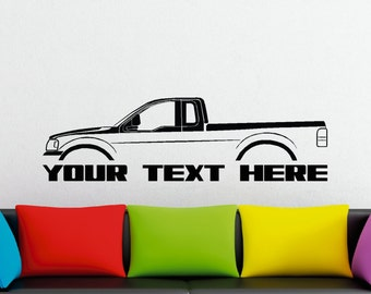 Large Custom car silhouette wall sticker - for  Ford F150 2004-2008 pickup truck