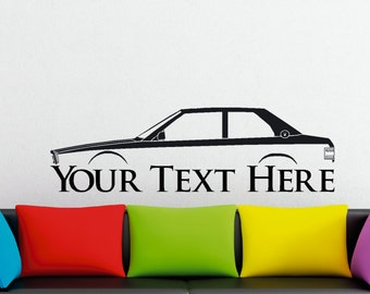 Large Custom car silhouette wall sticker - for Maserati Biturbo coupe 1981