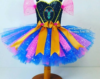 Anna Super Sparkly Tutu Dress - Short Version -Birthday, Party, Photo Prop, Pageant, Fancy Dress, Princess