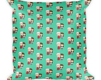 Inuyasha and Kagome Patterned Pillow