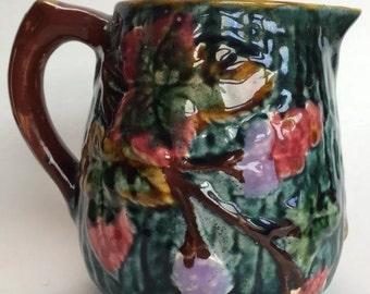 Shorter & Sons Majolica Trent Antique Art Deco Pottery Pitcher Jug
