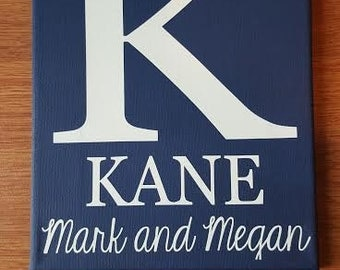 Personalized Last name and First Name canvas