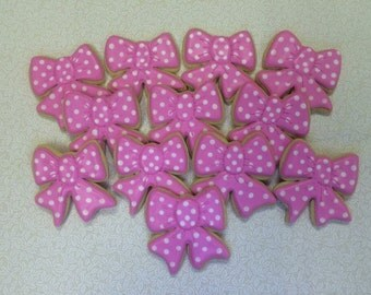 Bow sugar cookies
