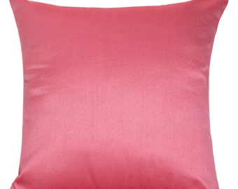 Set of 2 Solid Pink Pillow Cover Euro Sham Cover Plain Pink Pillow Pink Accent Pillow Solid Pink Throw Pillow Bedding Decorative Pillow