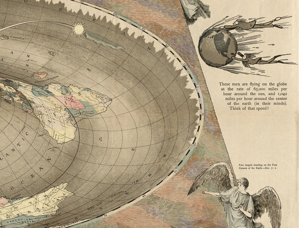 Flat earth map the square and stationary earth restoration flat earth map the square and stationary earth restoration world map curiosities and oddities gumiabroncs Images
