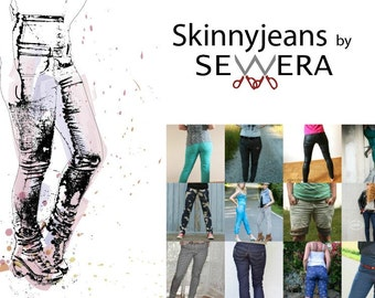 Skinnyjeans sewing pattern & instruction by Sewera