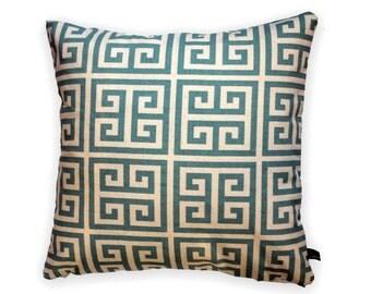 50 x 50 cm, cotton, cushion, cushion cover, geometric, nature, light blue, kissenkönigin