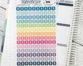 S289 || MONEY - Mini Icon Square Stickers for Planner (140 Removable Matte Stickers)