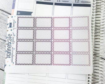 50% Off! S210 || HALF BOX - Purple Polka Dot - for Weekly Spread of Eclp Vertical (16 Removable Matte Stickers)