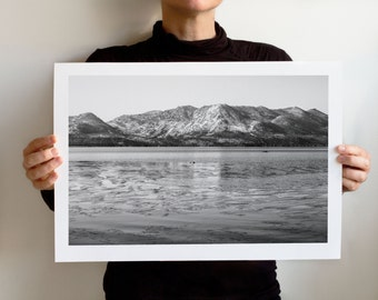 Winter on Lake Tahoe, Art Print, California