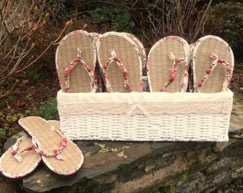 Wedding or Party Basket of Flip Flops for Guests - 20 pairs