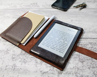 Kindle Paperwhite cover - Kindle case - Italian leather chestnut colour - Kindle case - Leather organiser by Valentina
