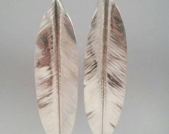 Handmade Fold Formed Sterling Silver Earrings