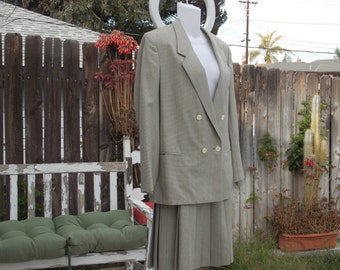 HERTLING for NORDSTROM Lined Pleated Skirt Suit
