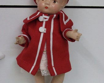 Coat and beret for Patsy or Patsy type compo doll