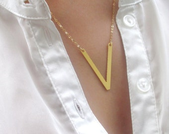 Geometric Necklace Gold, Geometric Necklace, Necklace Gold, GeometricJewelry, Triangle Necklace Gold, Triangle Necklace, Triangle Jewelry