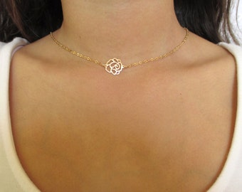Gold Rose Flower Necklace,Rose Necklace,Gold Rose Necklace,Rose Gold Necklace,Rose Flower Necklace,Flower necklace gold,Gold Flower Necklace