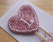 Heart Curly Initial Paper Clip