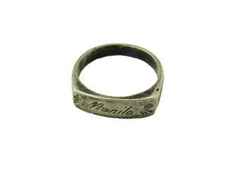 Vintage Silver Sweetheart Ring WWII 1945 From Manila w/Box