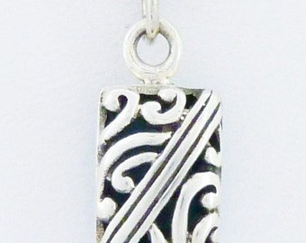 """Reversible Sterling Silver Turquoise Necklace 18""""  Southwestern"""